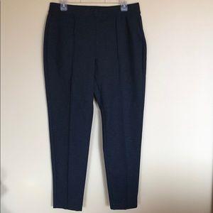 NWT Talbots Gray Ponte Ankle Pants Sz. Lg.